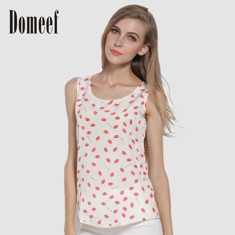 2015 New Summer Fashion Sleeveless Women Shirts Ca...
