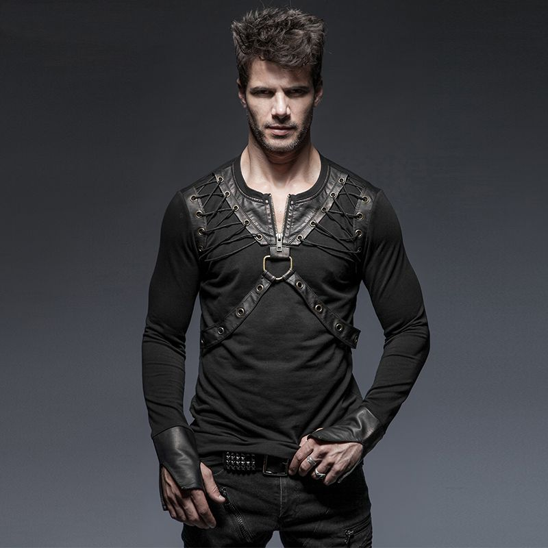 Find great deals on eBay for Mens Leather T Shirt in T-Shirts and Men's Clothing. Shop with confidence. Find great deals on eBay for Mens Leather T Shirt in T-Shirts and Men's Clothing. Waraire Boswell Men T Shirt Top Leather Sleeves New Black NBA Size XL Made USA. $ Buy It Now. or Best Offer. Leather sleeves.