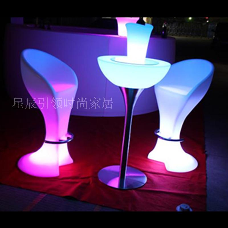 Led light bar chairs tables cocktail table buffay remote for Cocktail tables led