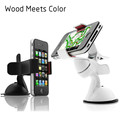 Wood Meets Color Multifunction navigation car holder Apply to iPhone Sam Xiaomi Universal Phone Holder suction