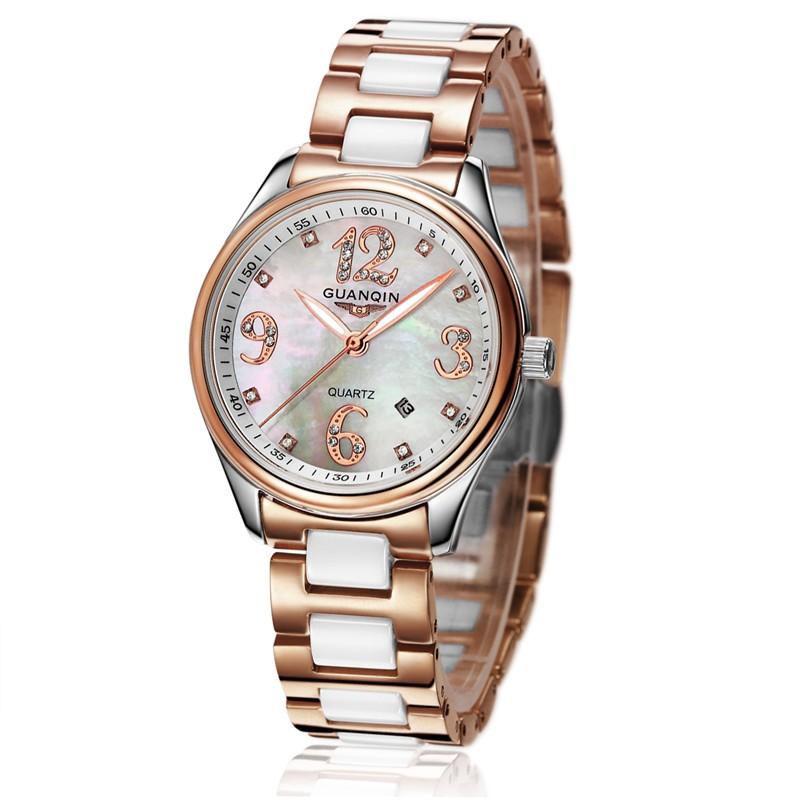 GUANQIN Women Watches Top Brand Luxury Fashion Casual Ceramic Watch Quartz Ladies Watch Female Clock Relojes Mujer Montre Femme