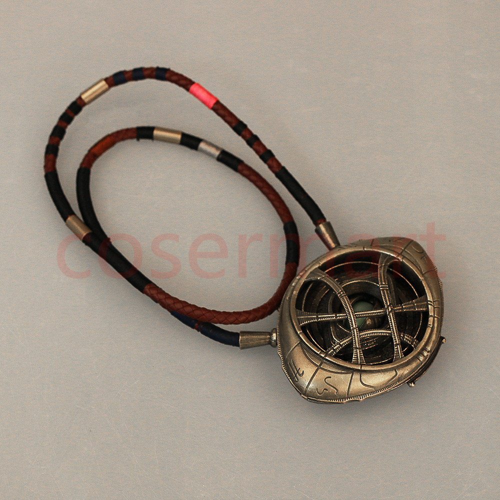 Doctor Strange Necklace Eye of Agamotto Necklace Eyes Can Open Cosplay Props New (10)