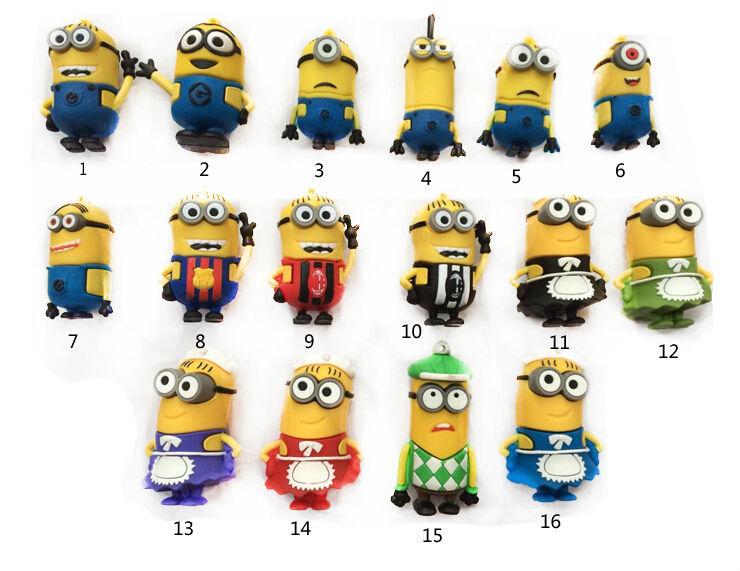 wholesale 100% real capacity cartoon Yellow Minion usb 2.0 flash drive/creativo pendrive/memory Stick/Disk/Thumb 4/8/16/32/64GB(China (Mainland))
