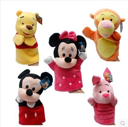 Children's Day gift Mitch Mini bear hand puppet cartoon dolls, plush toy puppet children gifts, Christmas gifts(China (Mainland))