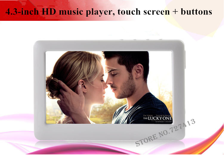 Mp4 players, high definition touch screen + key, Music player, voice e-book Candy color wholesale free shipping(China (Mainland))