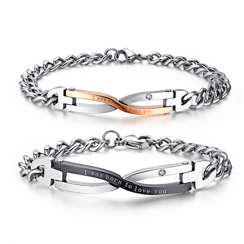 Wedding Gifts For Couple Jewellery : Design Bracelets For Couples Stainless Steel Lover Jewelry Wedding ...