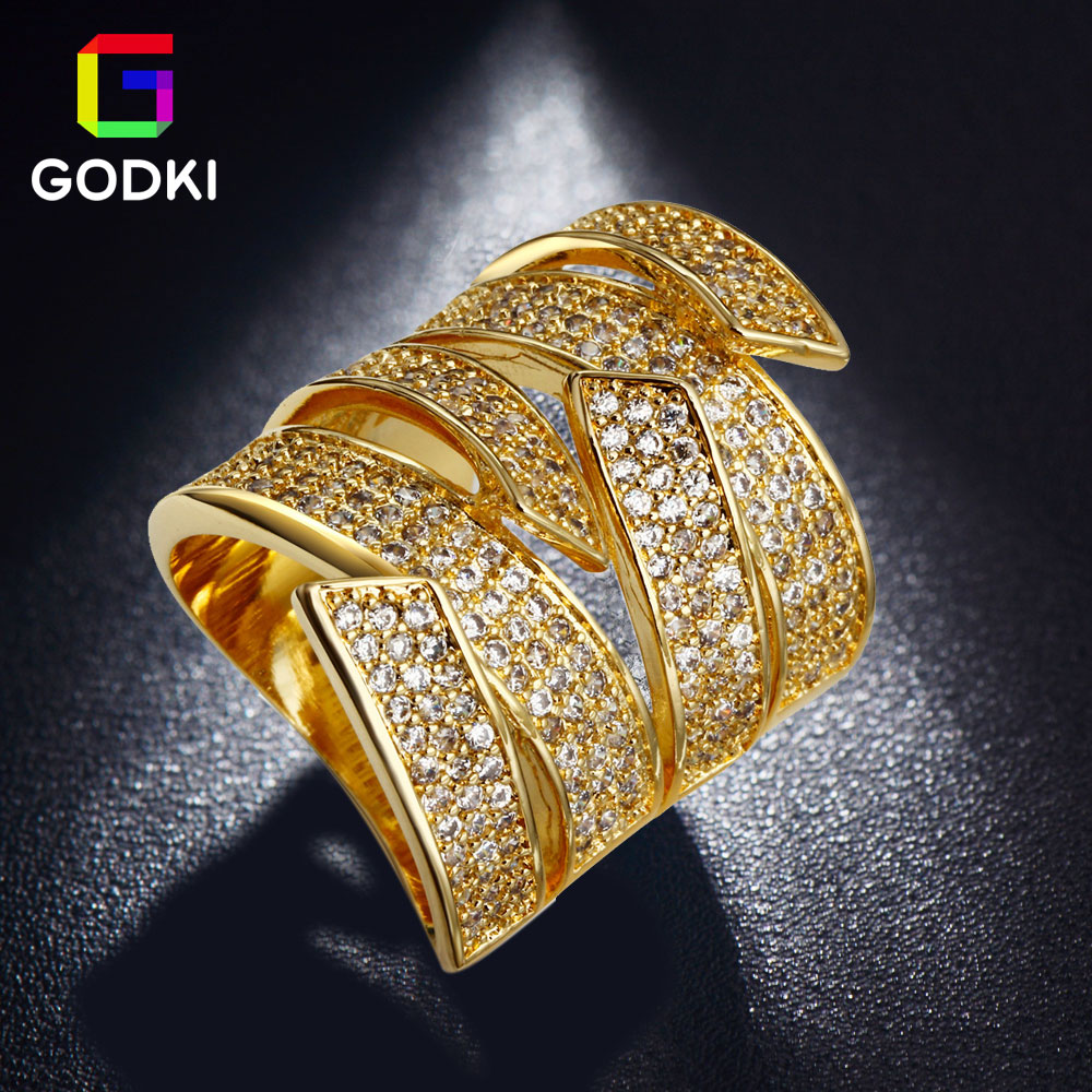 GODKI Stunning Twist Wide Special Micro CZ Simulated Diamond Engagement Silver Finger Ring White Gold Plated Jewelry Women(China (Mainland))
