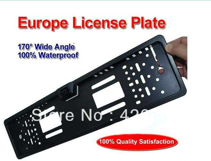 Wholesale Hot Selling European License Plate Rear View Camera.Reversing camera,Rearview camera Best quality,Free Shipping(China (Mainland))