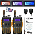 2pcs Baofeng GT 3TP MarkIII VHF UHF Dual Band Ham Walkie Talkie Two way Radio with