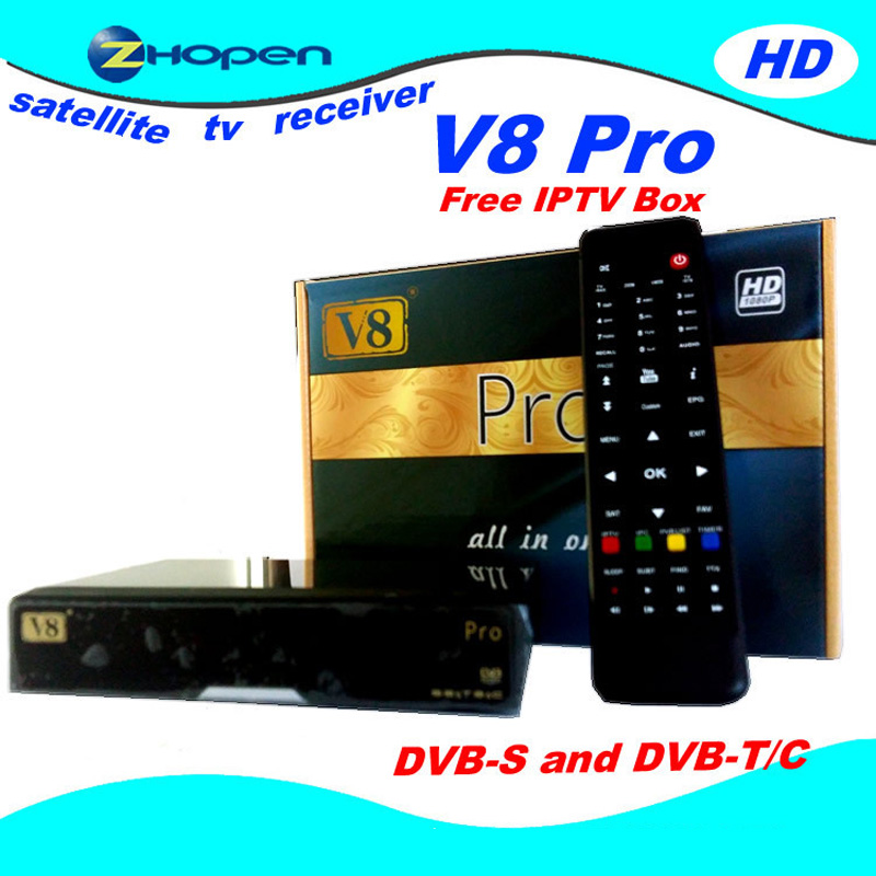 OPENBOX V8 PRO COMBO HD DVB-2-T2-C CAS IPTV RECEIVER Tuner Openbox HD Satellite Receiver combo Support USB WiFi