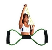 Free shipping Resistance Training Bands Tube Workout Exercise for Yoga 8 Type Fashion Body Building Fitness Equipment