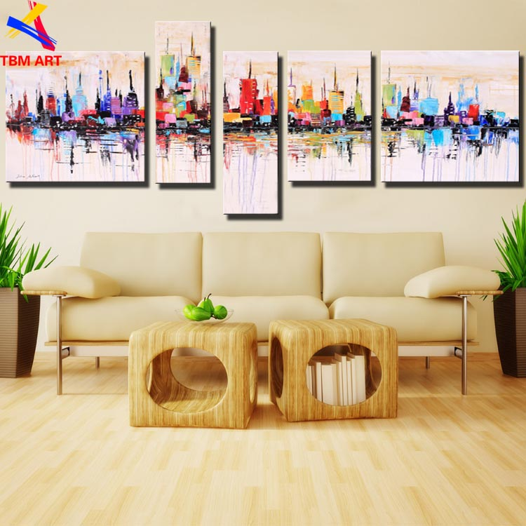 New York City Picture Canvas Painting 100% Handpainted American Style Modern Abstract Oil Painting On Canvas Wall Art Gift  Z011