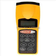 Ultrasonic Laser Beam Pointer Digital LCD Tape Measure Range Distance Meter Tool