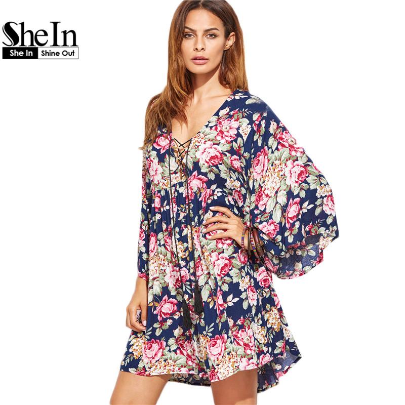 Online kaufen gro handel bohemian kleider aus china - Shein kleidung ...