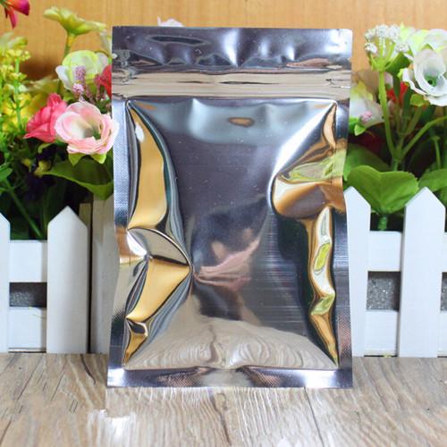 12*20cm Aluminum Foil Resealable Valve Ziplock Retail Plastic Pack Package Bag, Zipper Zip Lock Bag Plastic Retail Packaging(China (Mainland))
