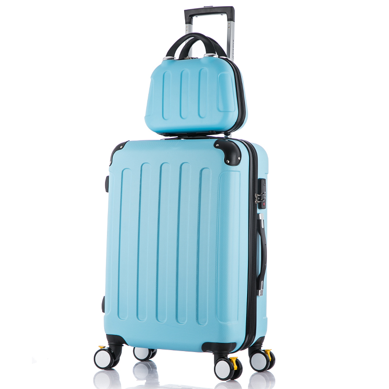 Picture bags travel bag universal wheels trolley luggage 20 24 26 cosmetic box