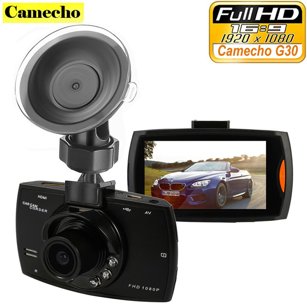 "Camecho Car Camera G30 Full HD 1080P 2.7"" Car Dvr Recorder + Motion Detection Night Vision G-Sensor 32GB Dvrs Dash Cam Black Box(China (Mainland))"