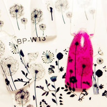 BORN PRETTY BP-W13 Flying Dandelion Nail Art Water Decals Transfer Stickers