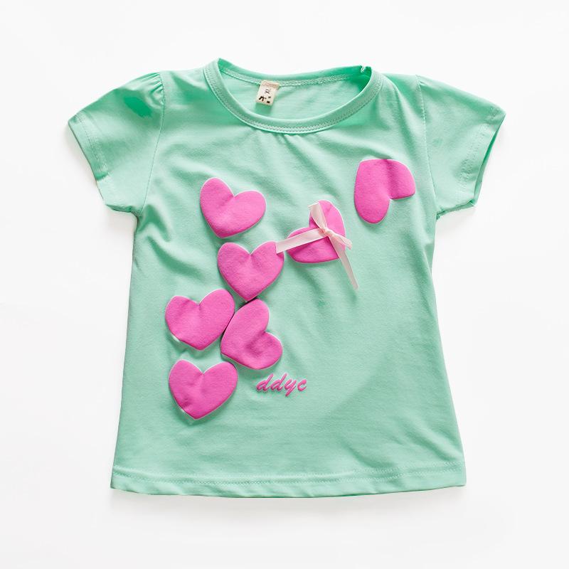 2016 new summer baby girl t shirt cotton short sleeve for Newborn girl t shirts
