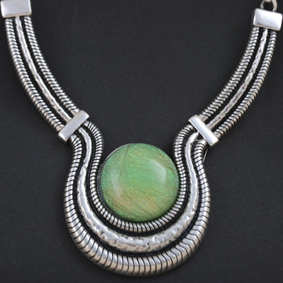 vintage large necklaces Alloy silver-plated Fashion max colares ethnic tribal 2015 statement Women Big Chunky Necklace pendant - YI Wu YouYou Foreign trade clothing accessories store