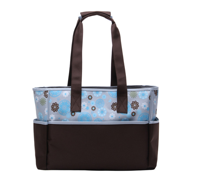 New Arrival Wholesale Fashion lovely flower 2pcs Tote,Hand,Shoulder baby nappy diaper bags for young mummy Free Shipping HY-1102