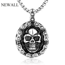 Newall stainless steel vintage skull pendant necklace men's high quality fashion jewelry accessory domineering punk personality(China)