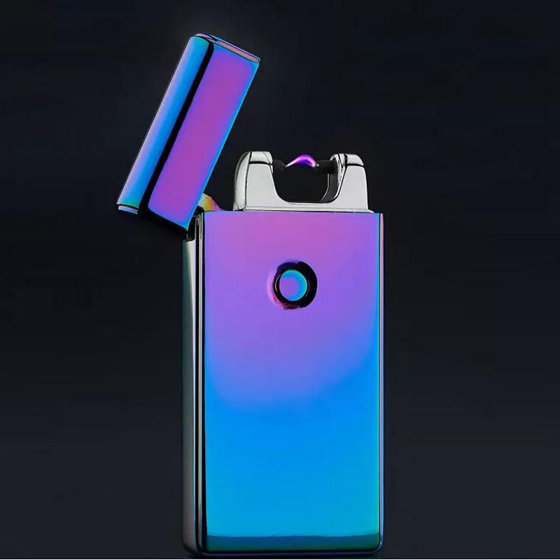 ถูก 3วินาทีอุปทานบุหรี่อิเล็กทรอนิกส์เบาWindproofโลหะชีพจรUSBชาร์จFlamelessไฟฟ้าArcซิการ์บุหรี่ไฟแช็ก
