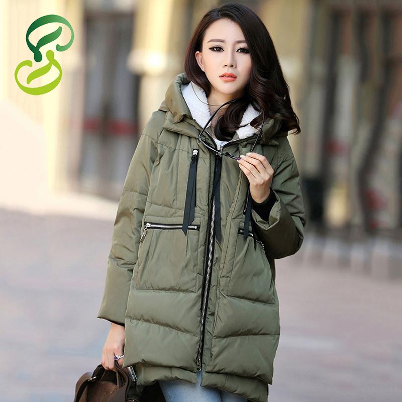 Free Shipping 2015 New Aarrivals Fashional Plus Size M~XXXL Women Hoody Long Style Warm Winter Coat Women WC747