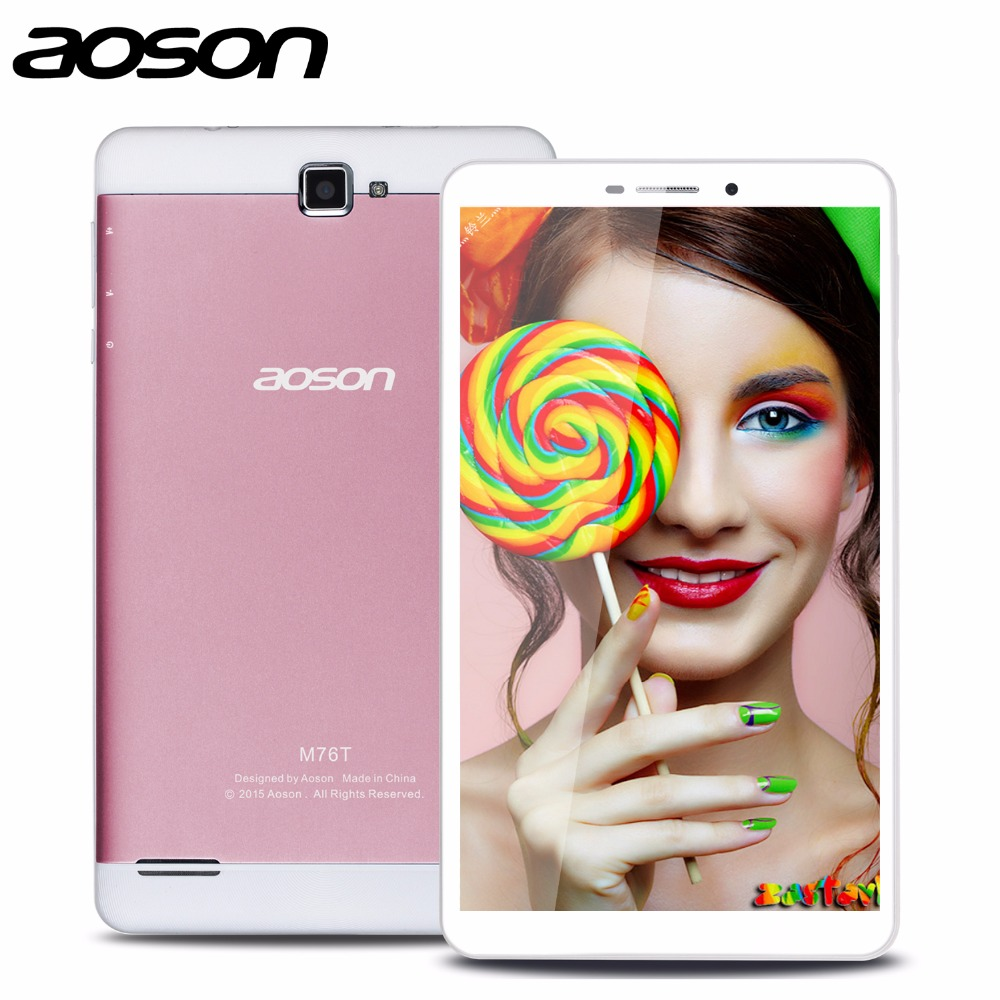 2016 Best 7 inch Built-in 3G Phone Android Tablet Aoson M76T Tablet Pc Octa Core MTK8392 Netbook Pc Bluetooth Wifi IPS(China (Mainland))