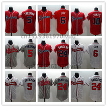 Cheap Mens 6 Bobby Cox 10 Chipper Jones 24 Deion Sanders Jerseys baseball Jerseys Free Shipping(China (Mainland))