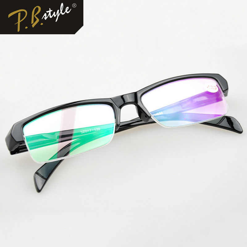 Unisex Fashion Semi rimless Frame Eye Glasses Men Business ...