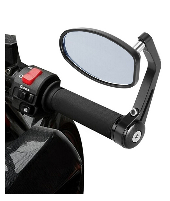 Flexible  7/8 Handlebar Aluminum Alloy Motocycle Rearview Mirrors Moto End Motor Side Mirrors Motorcycle Accessories<br><br>Aliexpress