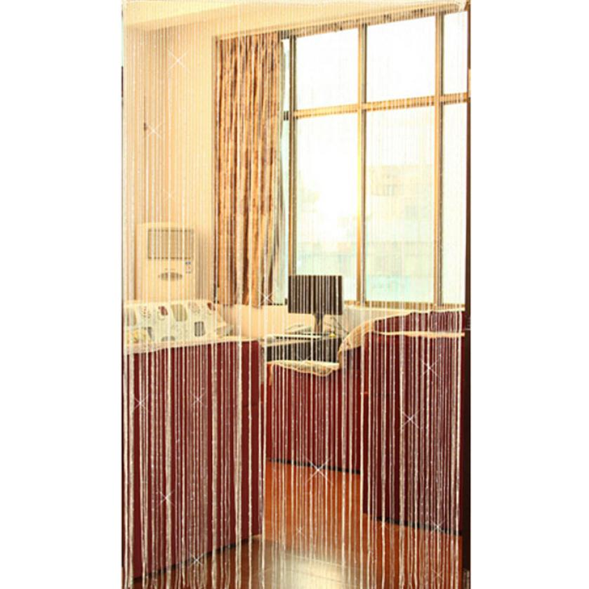 New Qualified Hot Selling Summer Special Silver Silk String Curtain Living Room Door Partition