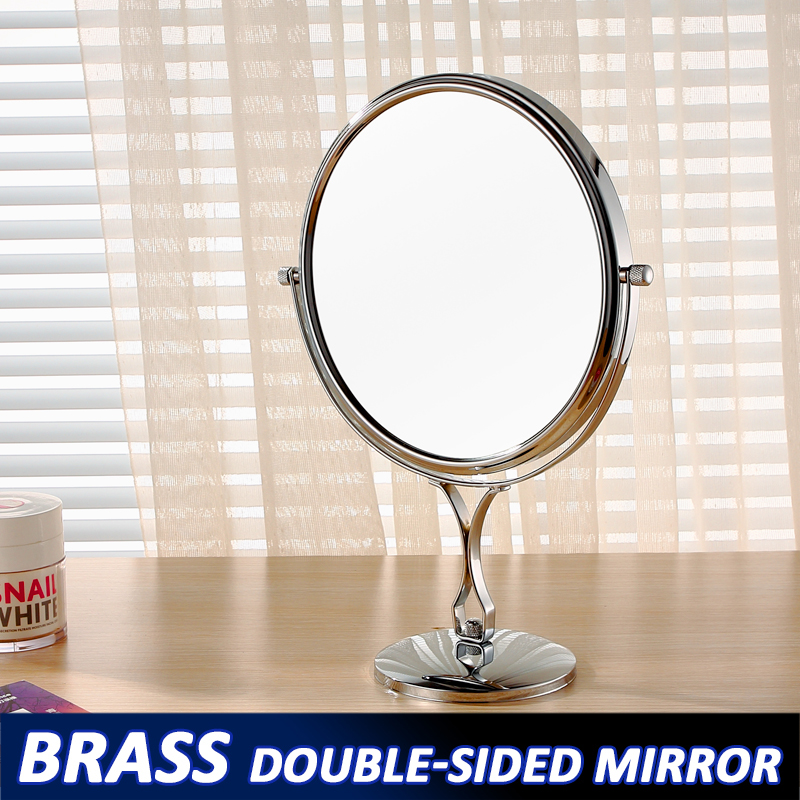 2016 GuRun Professional Personalized desktop Double faced makeup mirror 8inch 3x5x7x10x magnification makeup mirror iron 2201(China (Mainland))