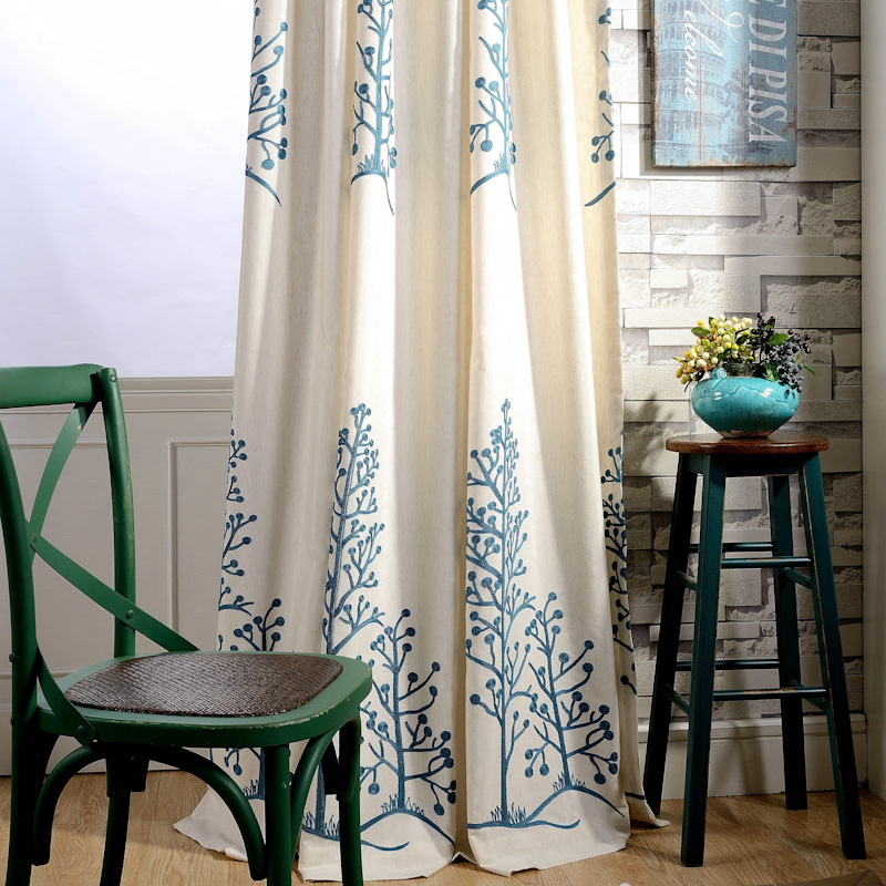 Discount Twin trees Blackout Curtains for Bedroom Polyester/Cotton Comfortable Curtains Set for the Living Room A-12(China (Mainland))