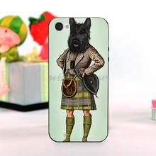 Scottie Dog Kilt scottish terrier Animal Amazing landscape hard pc Phone Case For iPhone 4 4s case