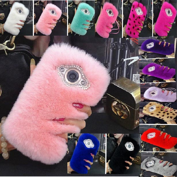 New Fur Case For Nokia N8 Back Cover Luxury Pink Rabbit Hair Bling Funda Coque Capa Carcasas Furry Phone Case For Nokia n8+Gift(China (Mainland))