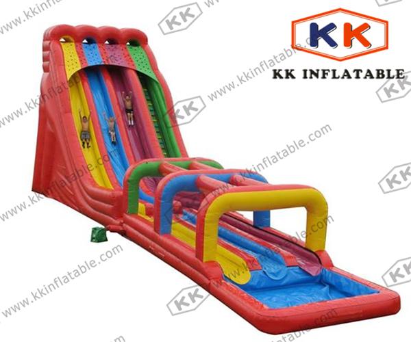 Inflatable Giant Slide: Giant Inflatable Water Slide , Three Slide Ways , Big PVC