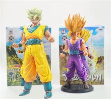 2pcs/lot Dragon Ball Z Master Super Saiyan The Son Gohan Son Gokou PVC Action Figure Collectible Model Toy 23 30cm