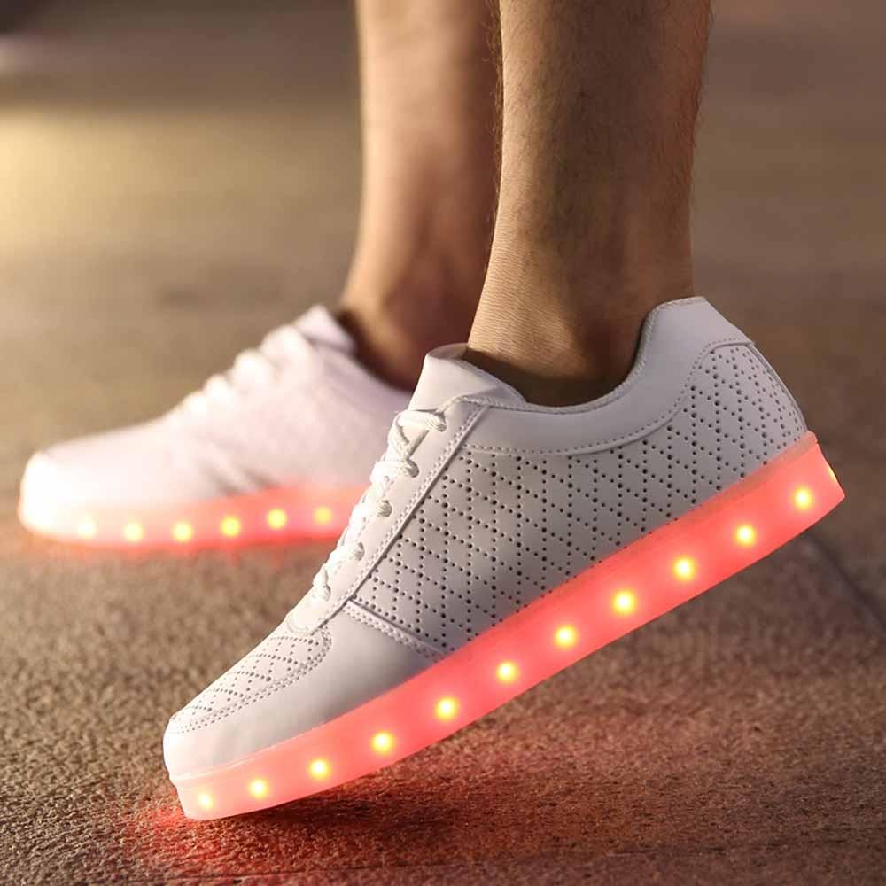 Shoes Boy Girls Shoes2019 Light Shoes Led Luminous Shoes Usb Charging Colorful Light Board Shoes Modern Design Men's Shoes
