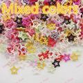 Free shipping 1000pcs flat back pearl star for DIY decoration mixed colors 12mm accessory 270076
