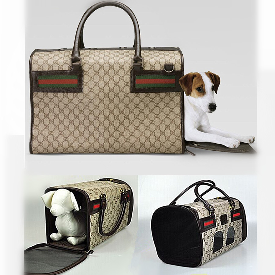 Airline approved Luxury Designer Dog Carrier Letter Pet Carry Bag Soft Cage For Carrying Cats Slings Tote Handbag(China (Mainland))