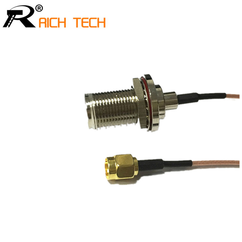 """RG178 15cm/6"""" wifi antenna adapter RP SMA male plug switch N type female bulkhead pigtail cable wholesale(China (Mainland))"""