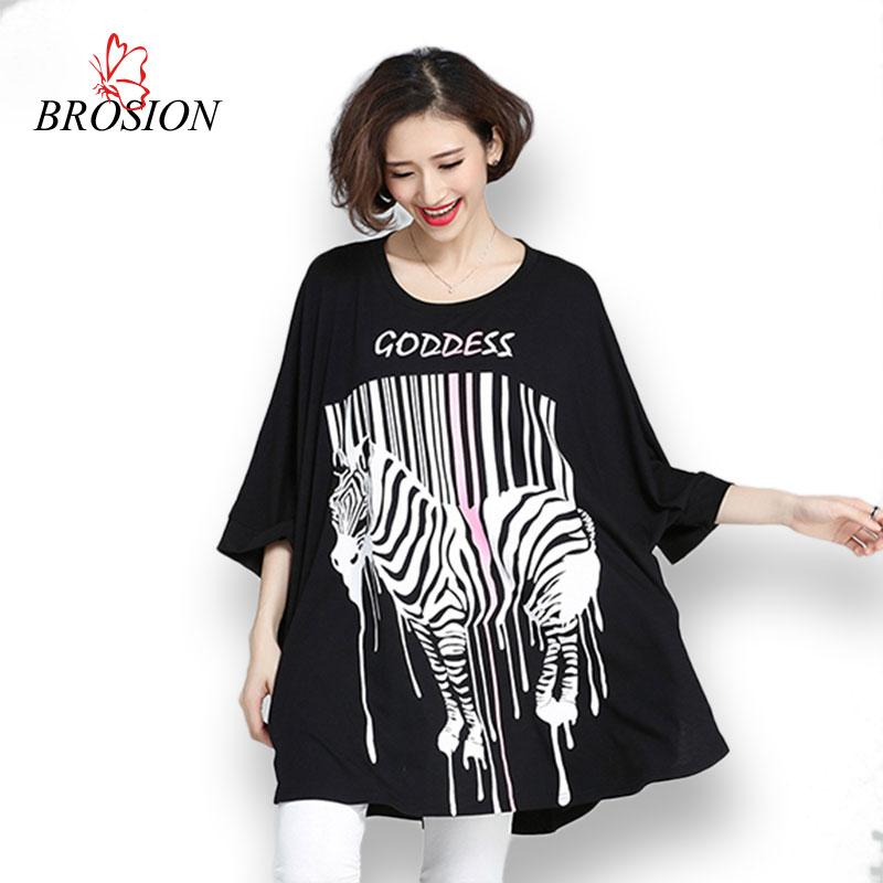 Plus Size Women Cotton T Shirt 2016 Summer Style Batwing Sleeve Letter Animal Printed Lady Tops Female Large Size Women Clothing(China (Mainland))