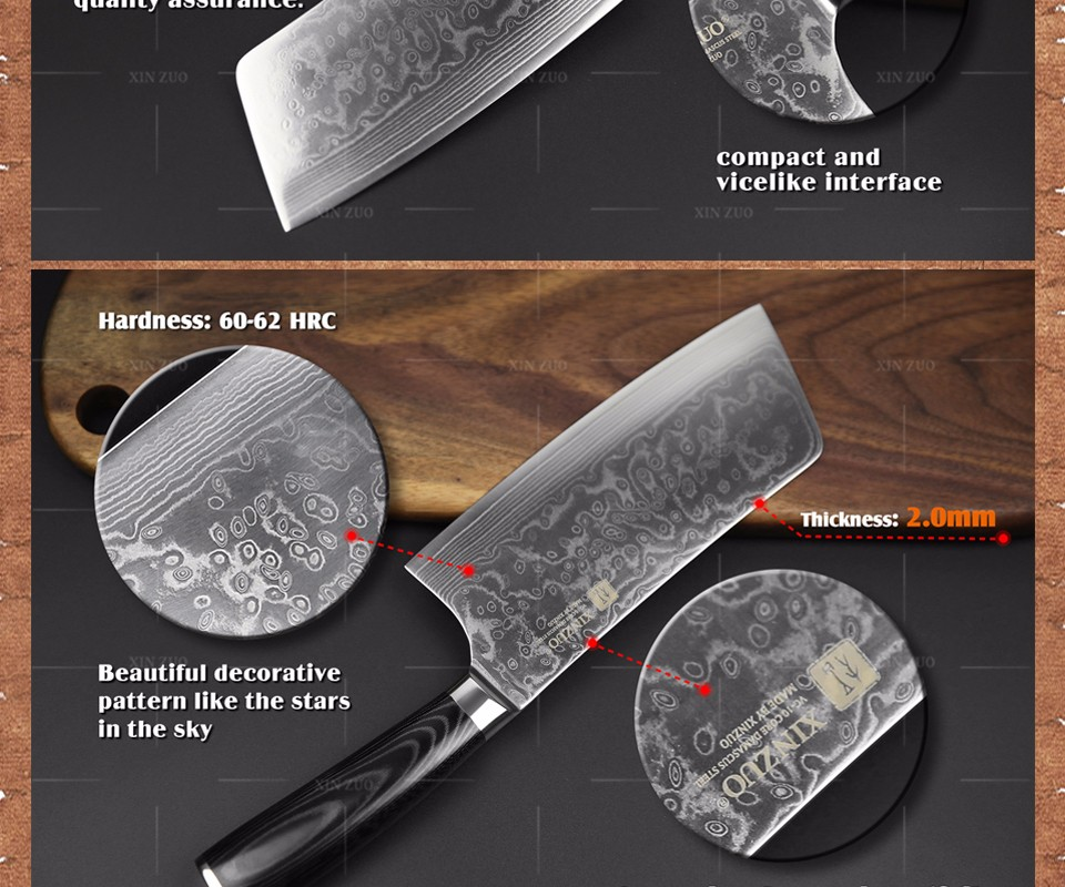 Buy XINZUO 7 inch kitchen knife 73 layer Japanese VG10 Damascus vg10 chef knife Japanese woman chef knife wood handle free shiping cheap