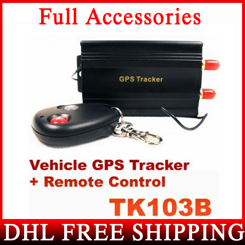 DHL Fedex 1QUAD BAND GPS 103B TK103B GPS103 Car Drive Vehicle Realtime Tracker Remote Control - CKF TECHNOLOGY C/STORE store