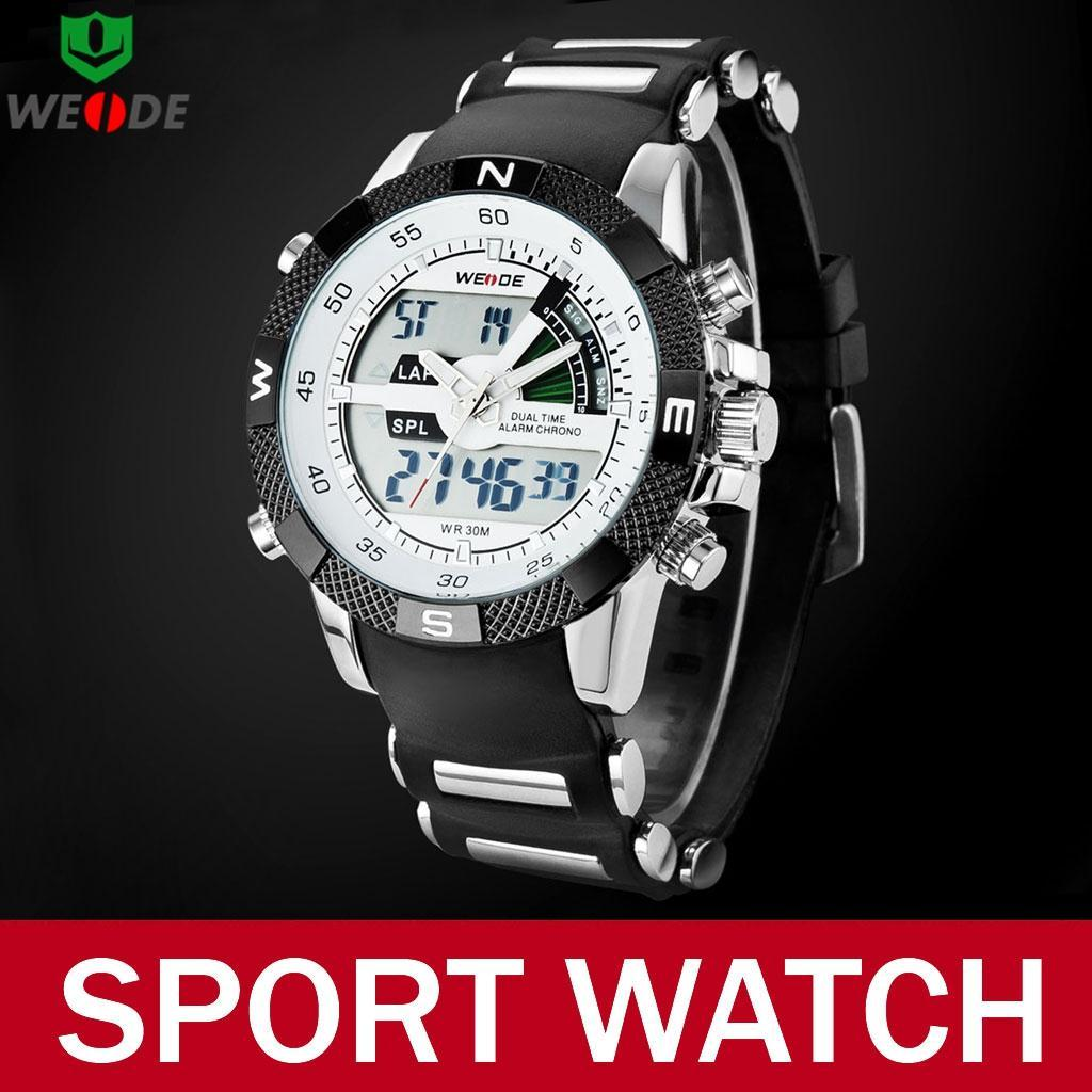 Weide Brand Silicone Strap Watches Multi-function Military Quartz Sport Wrist Watch Men Wristwatch Relojes Hombre - Atolla Global Flagship Store store