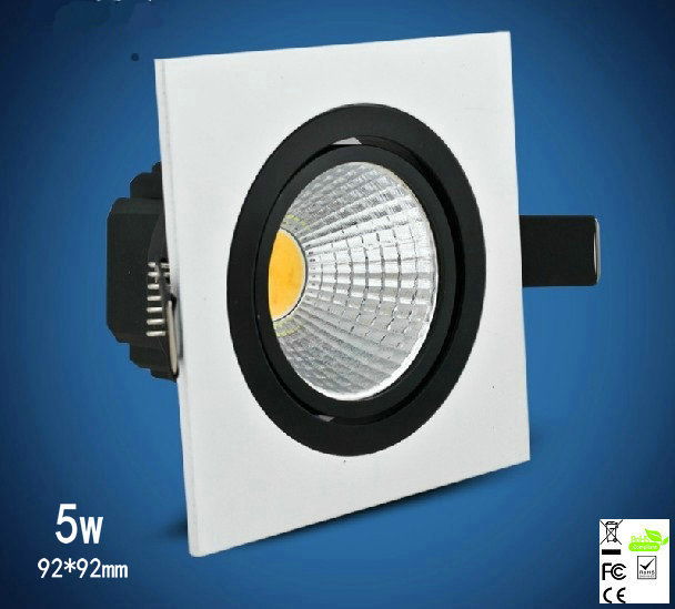 Led Panel Ceiling Lights Spot Free Shipping 2pcs/lot 92*92mm Led Downlight With 400 To 550lm Luminous Flux, Ce, And Tuv Marks(China (Mainland))