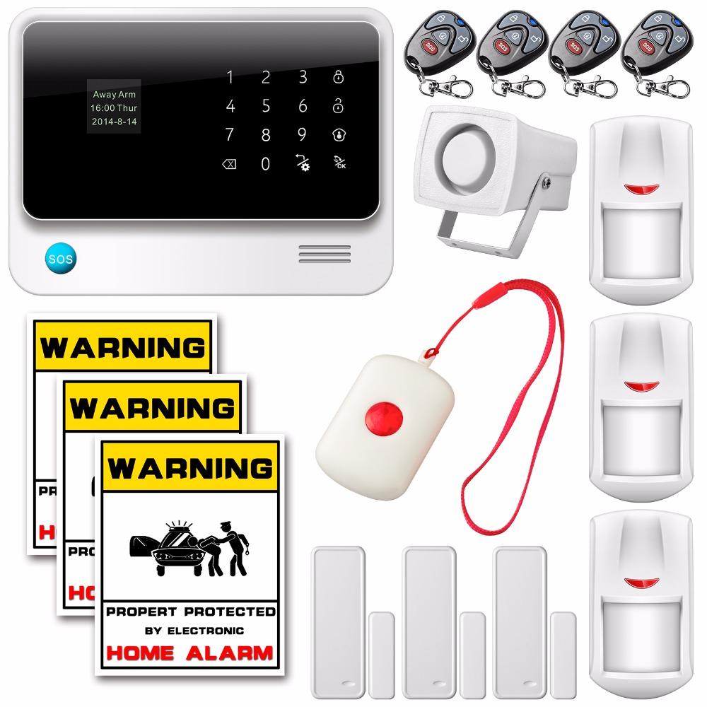 WiFi GSM GPRS Office Wireless Home Security Alarm System Wireless Home Burglar APP Control Necklace Panic Button Warning Sticker(China (Mainland))