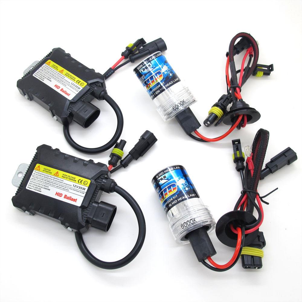 H7 35 Вт стайлинга автомобилей Xenon HID лампа комплект 12 В тонкий балласт 3000 К 4300 К 5000 К 6000 К 8000 К 10000 К 12000 К